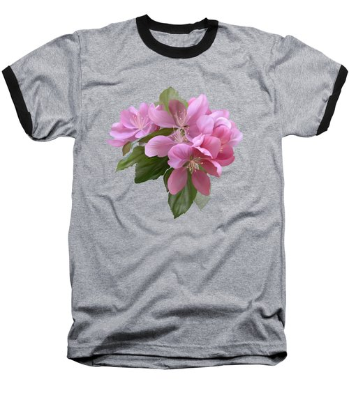 Pink Blossoms Baseball T-Shirt