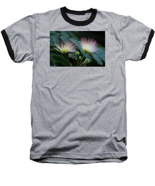 Pink Mimosa  Baseball T-Shirt by Yvonne Wright