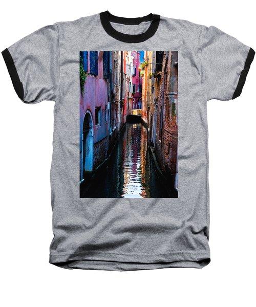 Pink Canal Baseball T-Shirt