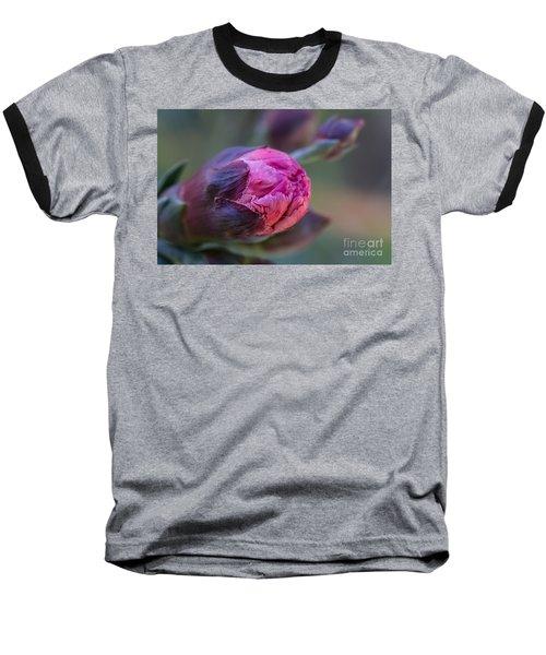 Pink Carnation Bud Close-up Baseball T-Shirt