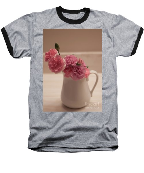 Pink Carnations Baseball T-Shirt by Sherry Hallemeier