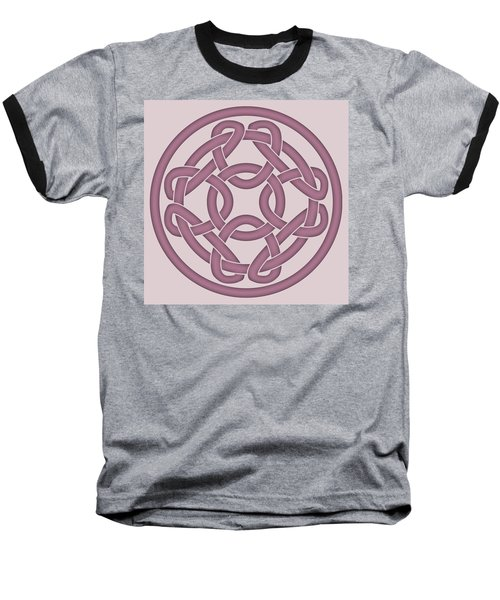 Baseball T-Shirt featuring the digital art Pink Celtic Knot by Jane McIlroy