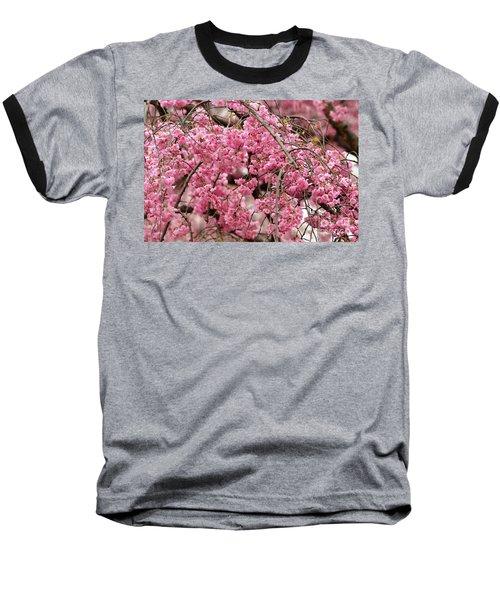 Pink Cherry Blossom Japan Arashayama Spring Holiday Diaries Baseball T-Shirt