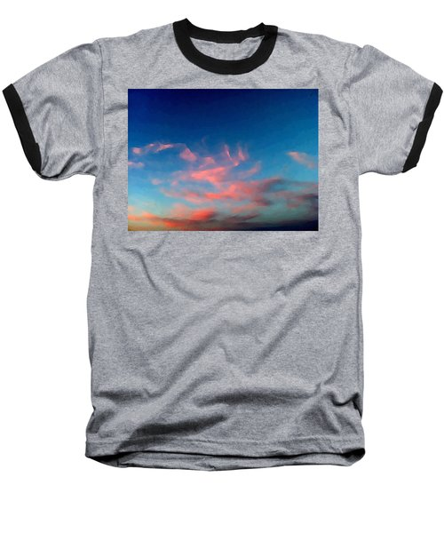 Pink Clouds Abstract Baseball T-Shirt