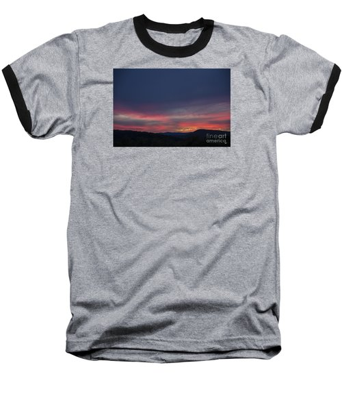 Baseball T-Shirt featuring the photograph Pink Clouds by Alana Ranney