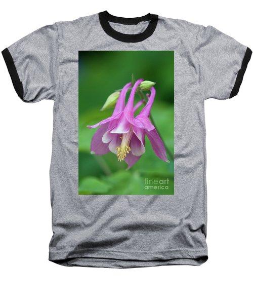 Baseball T-Shirt featuring the photograph Pink Columbine - D010096 by Daniel Dempster