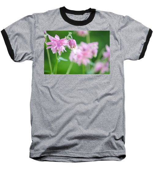 Pink Columbine Baseball T-Shirt