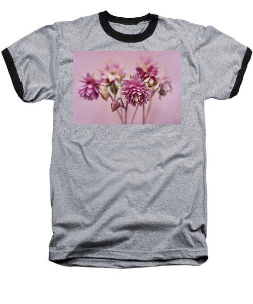 Pink Columbines Baseball T-Shirt