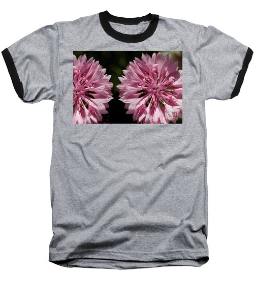 Pink Cornflowers Baseball T-Shirt