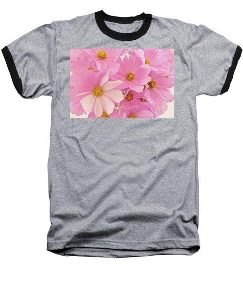 Pink Cosmos Sonata  Baseball T-Shirt