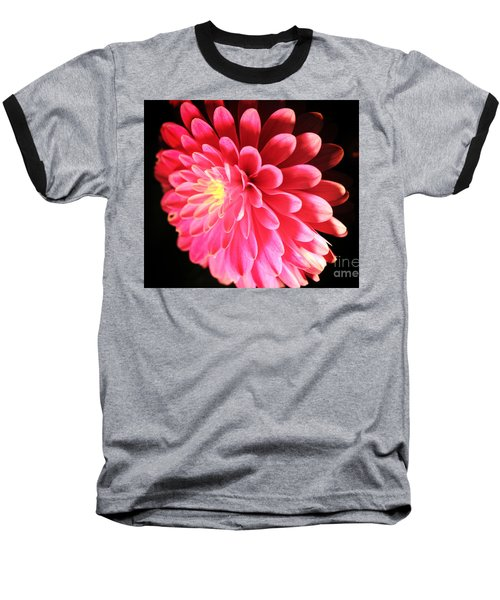 Pink Dahlia Baseball T-Shirt