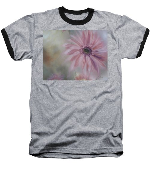 Baseball T-Shirt featuring the painting Pink Daisies by Donna Tuten