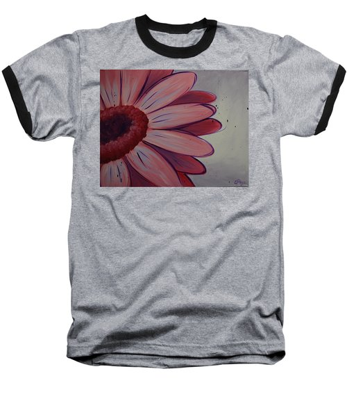 Pink Daisy Baseball T-Shirt