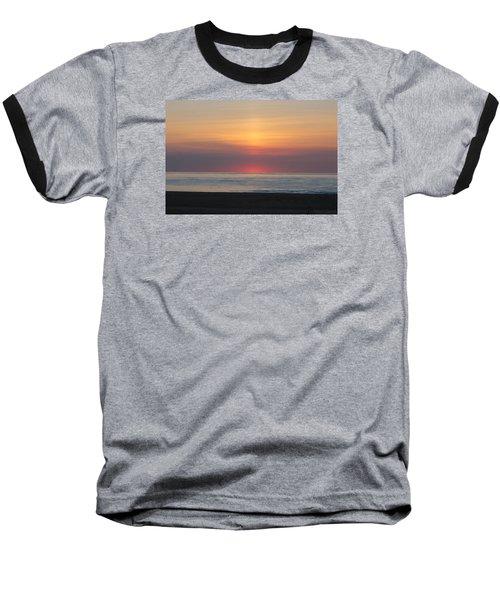 Baseball T-Shirt featuring the photograph Pink Dawn by Robert Banach
