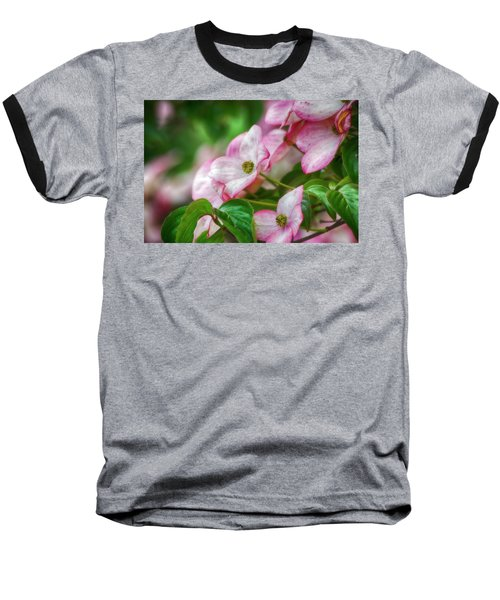 Baseball T-Shirt featuring the photograph Pink Dogwood by Bonnie Bruno