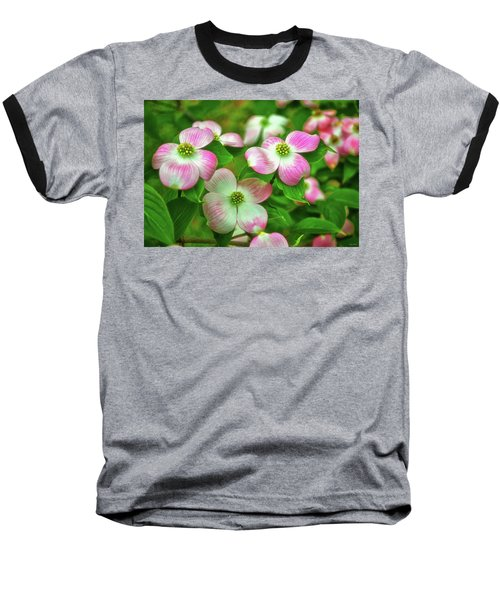 Pink Dogwoods 003 Baseball T-Shirt by George Bostian