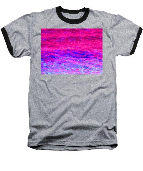 Pink Fantasy Waters Abstract Baseball T-Shirt