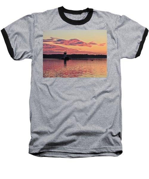 Pink Fire Baseball T-Shirt