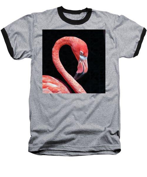 Pink Flamingo Baseball T-Shirt