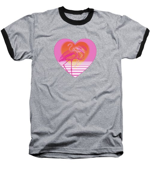 Pink Flamingos Baseball T-Shirt by Eclectic at HeART