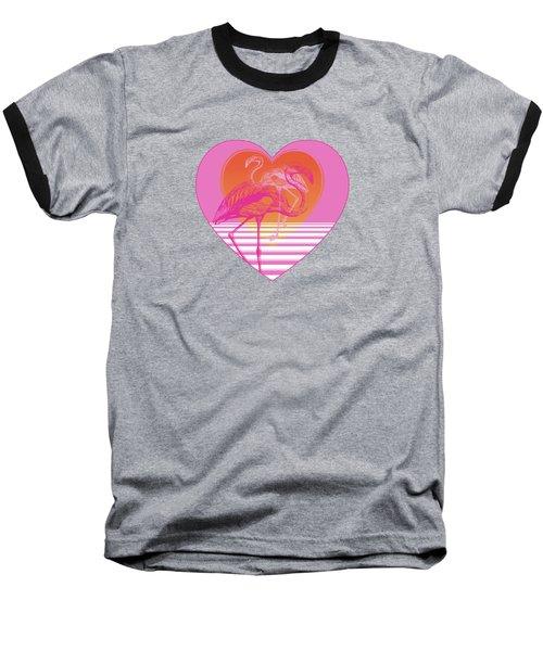 Pink Flamingos Baseball T-Shirt