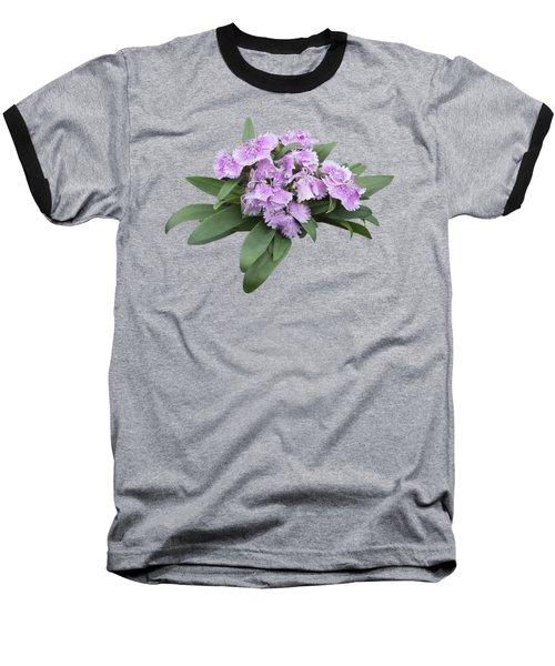 Pink Floral Cutout Baseball T-Shirt