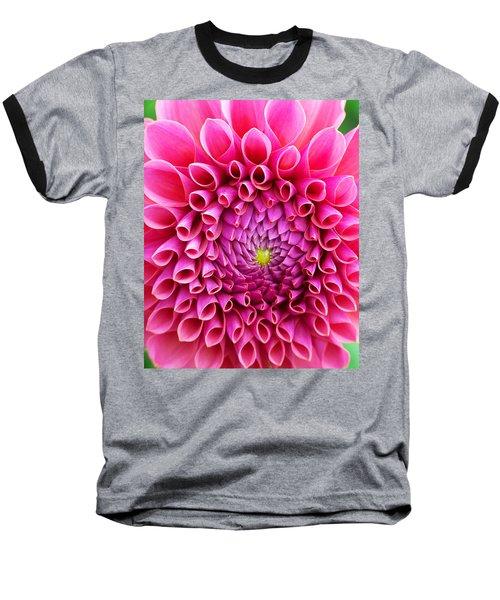 Pink Flower Close Up Baseball T-Shirt