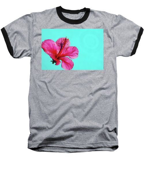 Pink Flower In Water Baseball T-Shirt