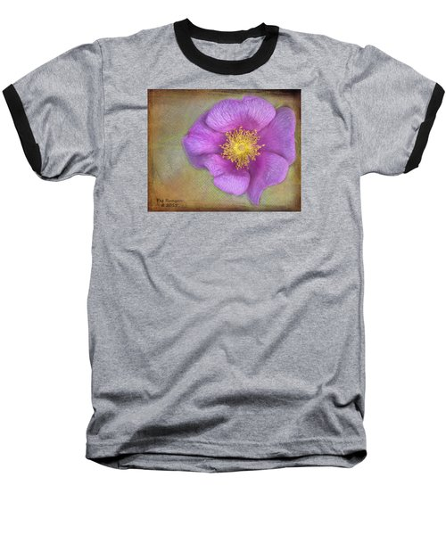 Pink Flower Baseball T-Shirt