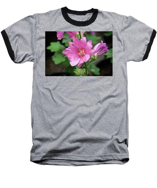 Pink Flower With Bug. Baseball T-Shirt