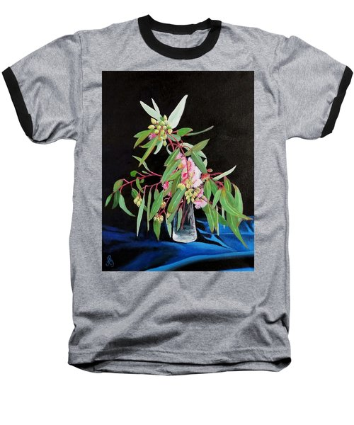 Pink Flowering Gum Baseball T-Shirt