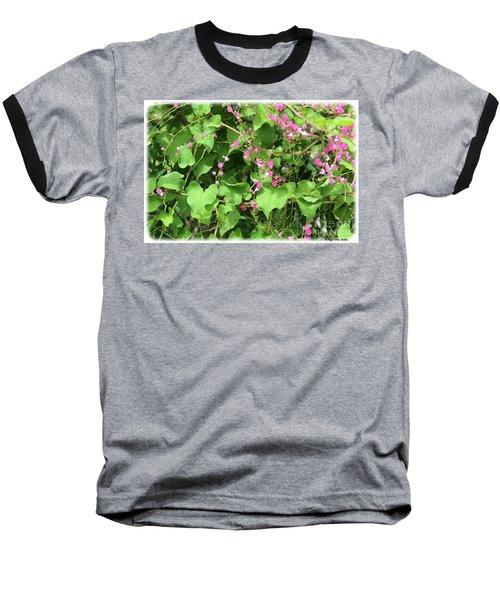 Baseball T-Shirt featuring the photograph Pink Flowering Vine1 by Megan Dirsa-DuBois