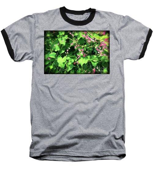 Pink Flowering Vine2 Baseball T-Shirt
