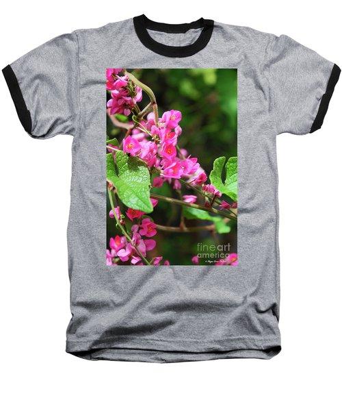 Baseball T-Shirt featuring the photograph Pink Flowering Vine3 by Megan Dirsa-DuBois