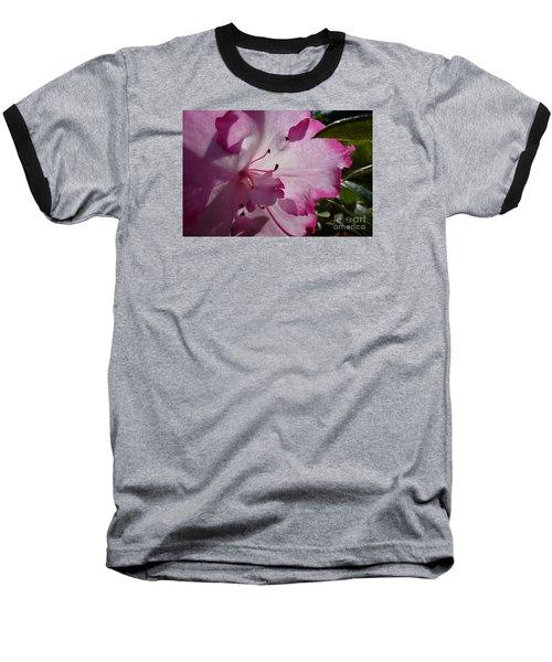 Pink Flowers 1 Baseball T-Shirt by Jean Bernard Roussilhe