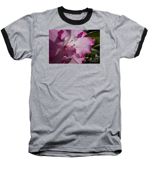 Pink Flowers 1 Baseball T-Shirt