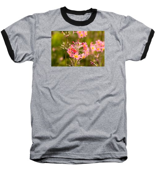 Pink Flowers In Scotland Baseball T-Shirt