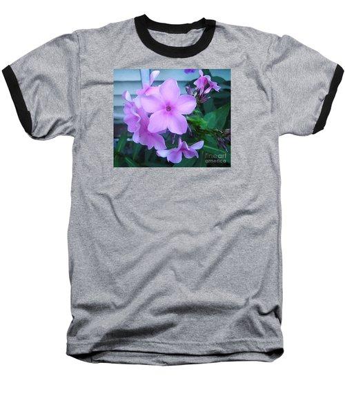 Pink Flowers In The Garden Baseball T-Shirt