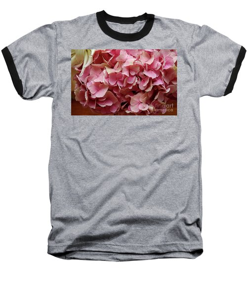 Pink Flowers Baseball T-Shirt