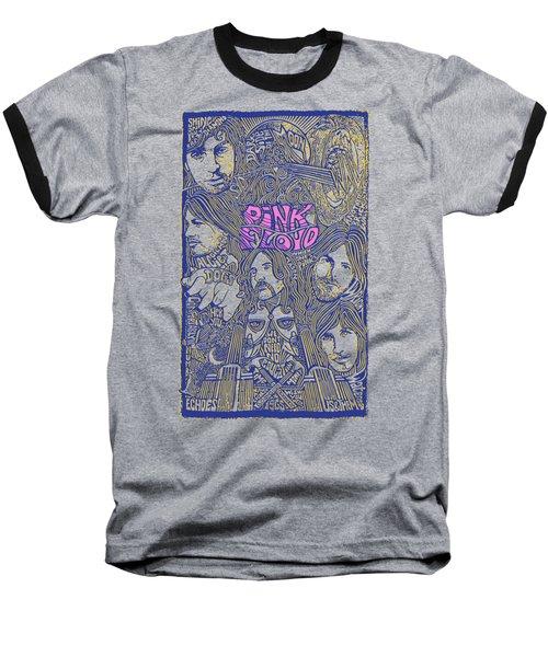 Pink Floyd Poster Art Baseball T-Shirt