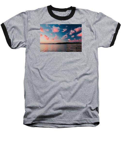 Pink Fluff In The Air Baseball T-Shirt by E Faithe Lester