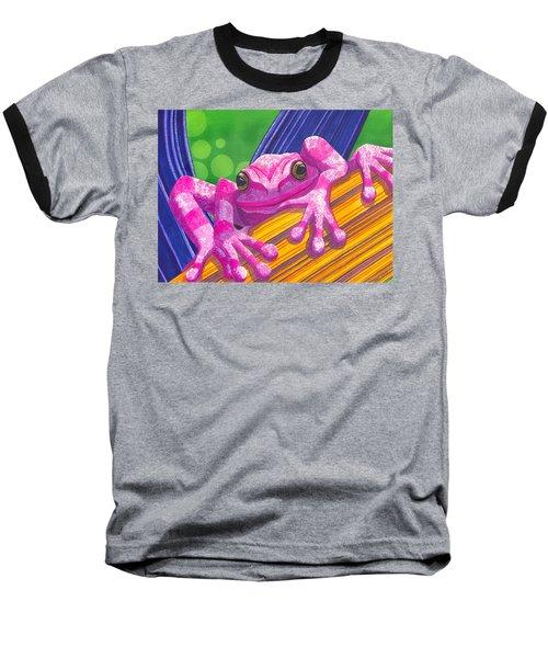 Pink Frog Baseball T-Shirt