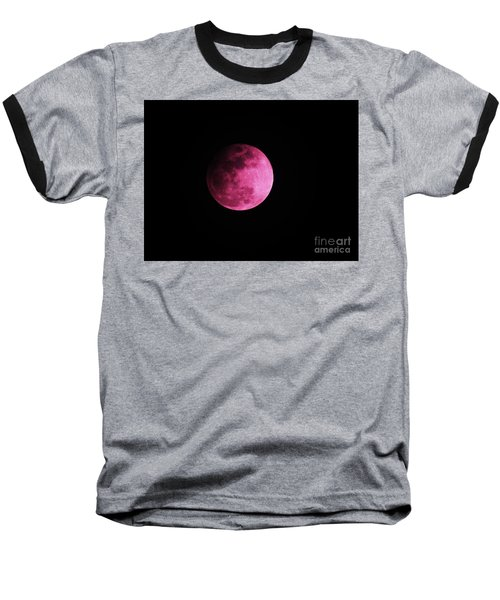 Pink Full Moon In April 2017 Baseball T-Shirt by J L Zarek