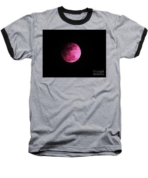 Pink Full Moon In April 2017 Baseball T-Shirt