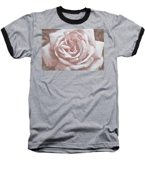 Pink Garden Rose Baseball T-Shirt