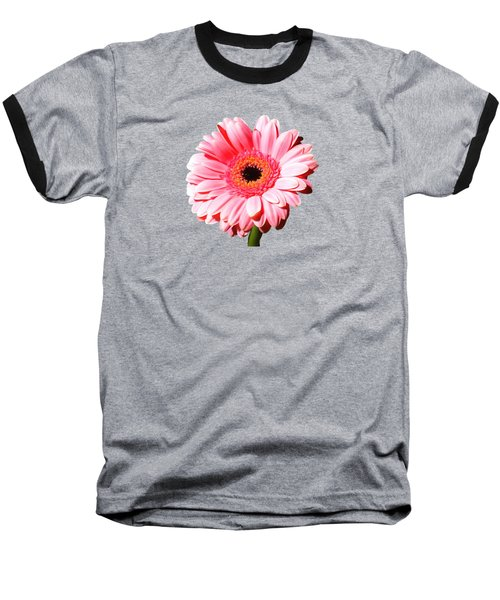 Pink Gerbera Baseball T-Shirt by Scott Carruthers
