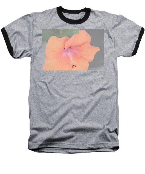 Pink Heavenly Hibiscus Baseball T-Shirt