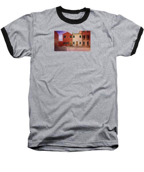 Baseball T-Shirt featuring the photograph Pink Houses by Anne Kotan
