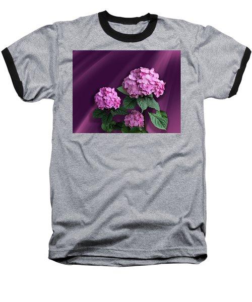 Pink Hydrangea Baseball T-Shirt