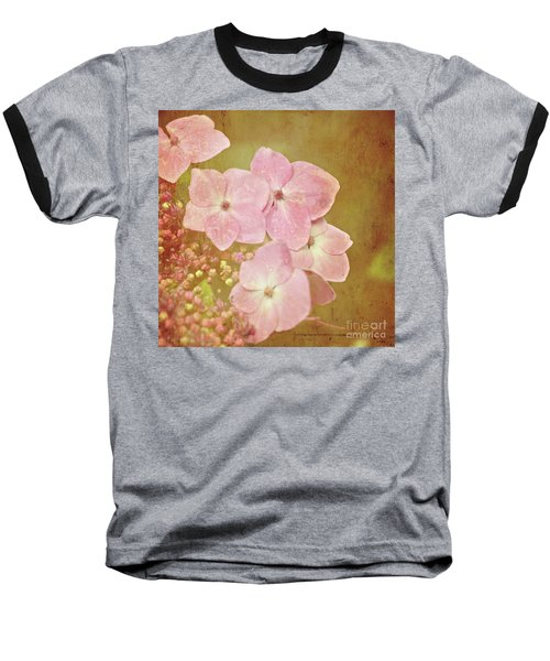 Baseball T-Shirt featuring the photograph Pink Hydrangeas by Lyn Randle